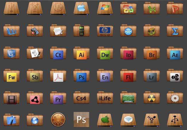 Wood Leopard Folders + Extras by lenbom