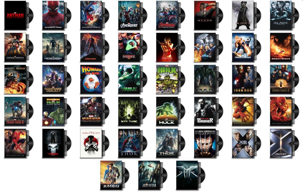 Marvel Movies Folder Icon Pack