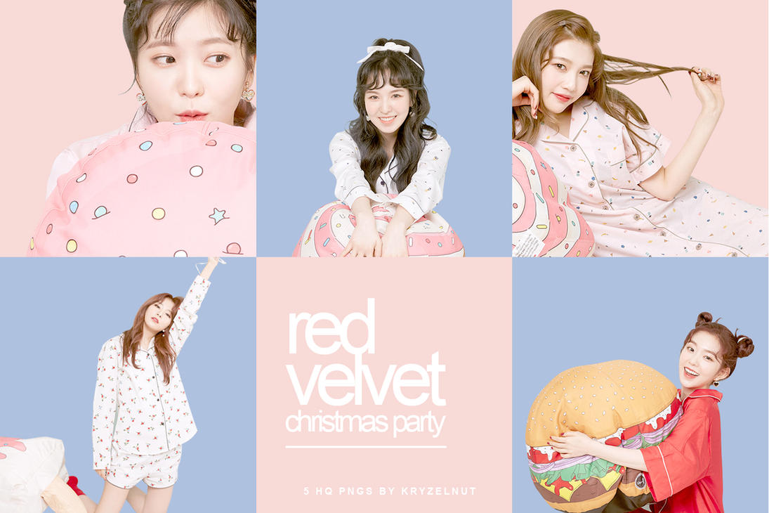 ++ PNG Pack 001 | Red Velvet Christmas Party by kryzelnut