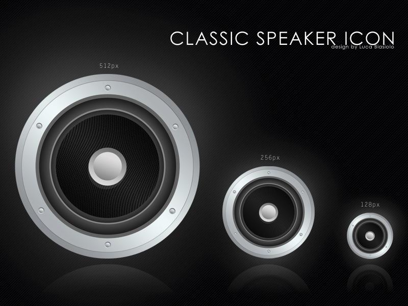classic speaker icon by bisiobisio