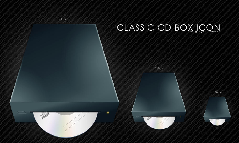 classic CD box icon by bisiobisio
