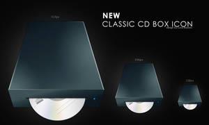 new classic cd box icon