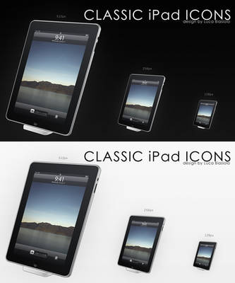 classic ipad icon by bisiobisio