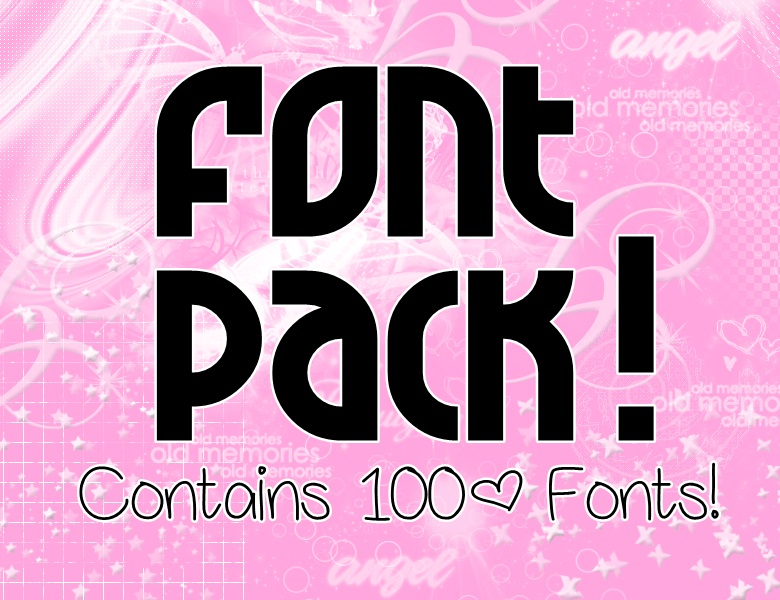 Download Font Pack! (100+ Fonts!) by ShinAeAh on DeviantArt
