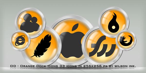 OD - Orange Dock icons by wilsoninc