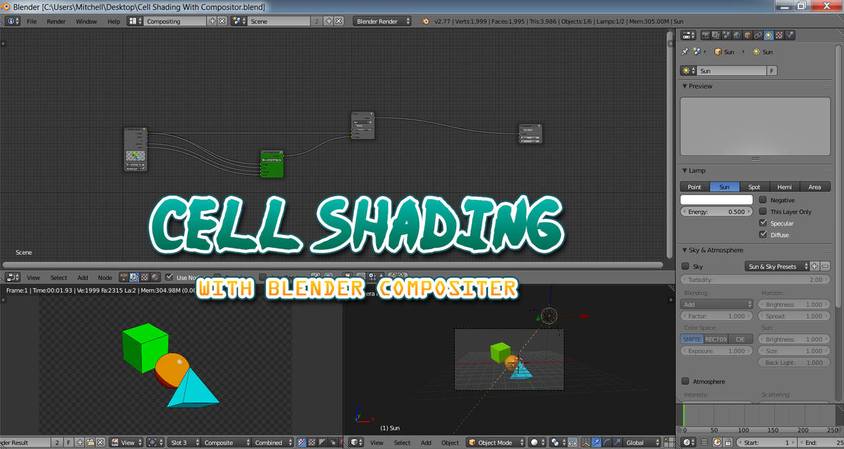 Blender Compositor_Cell Shading With Compositor by