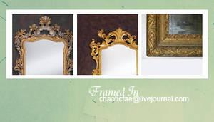 framed in