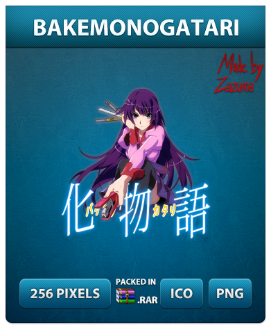 Bakemonogatari - Anime Icon by Zazuma