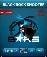 Black Rock Shooter Ver.2 - Anime Icon by Zazuma