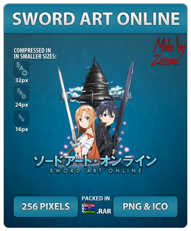 Sword Art Online - Anime Icon by Zazuma