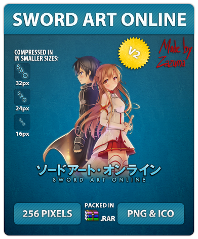 Sword Art Online V2 - Anime Icon by Zazuma