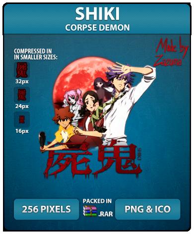 Shiki (Corpse Demon) - Anime Icon by Zazuma