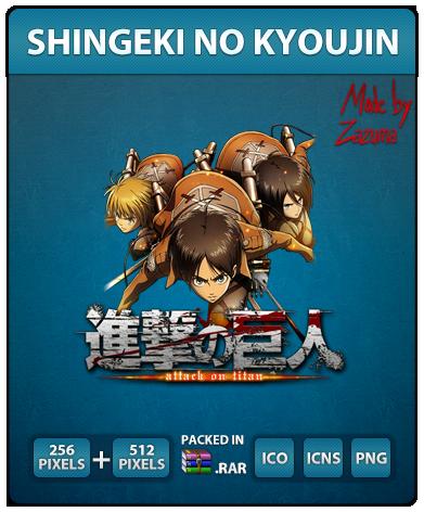 Shingeki no Kyoujin - Anime Icon by Zazuma