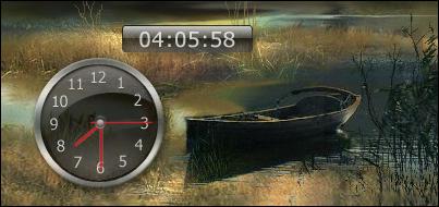 System clock-uptime-gadgets