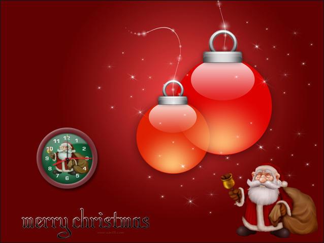 Santa clock_gadget by relhom