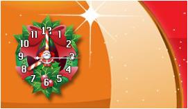 Wreath clock_gadget by relhom