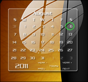 Clear calendar_gadget by relhom