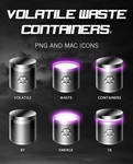 VOLATILE WASTE CONTAINERS