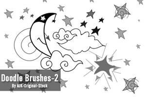 Doodle Brush pack-2 by AJK-Original-Stock