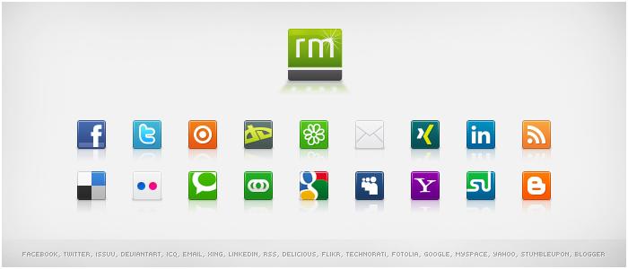 Social Media Icons - Volume 2 by ristaumedia