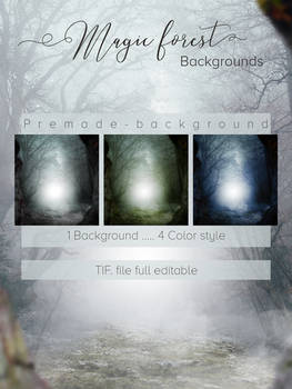 Premade Background -Magic Forest-