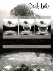 Premade Background -Dark Lake- by Lwsypher