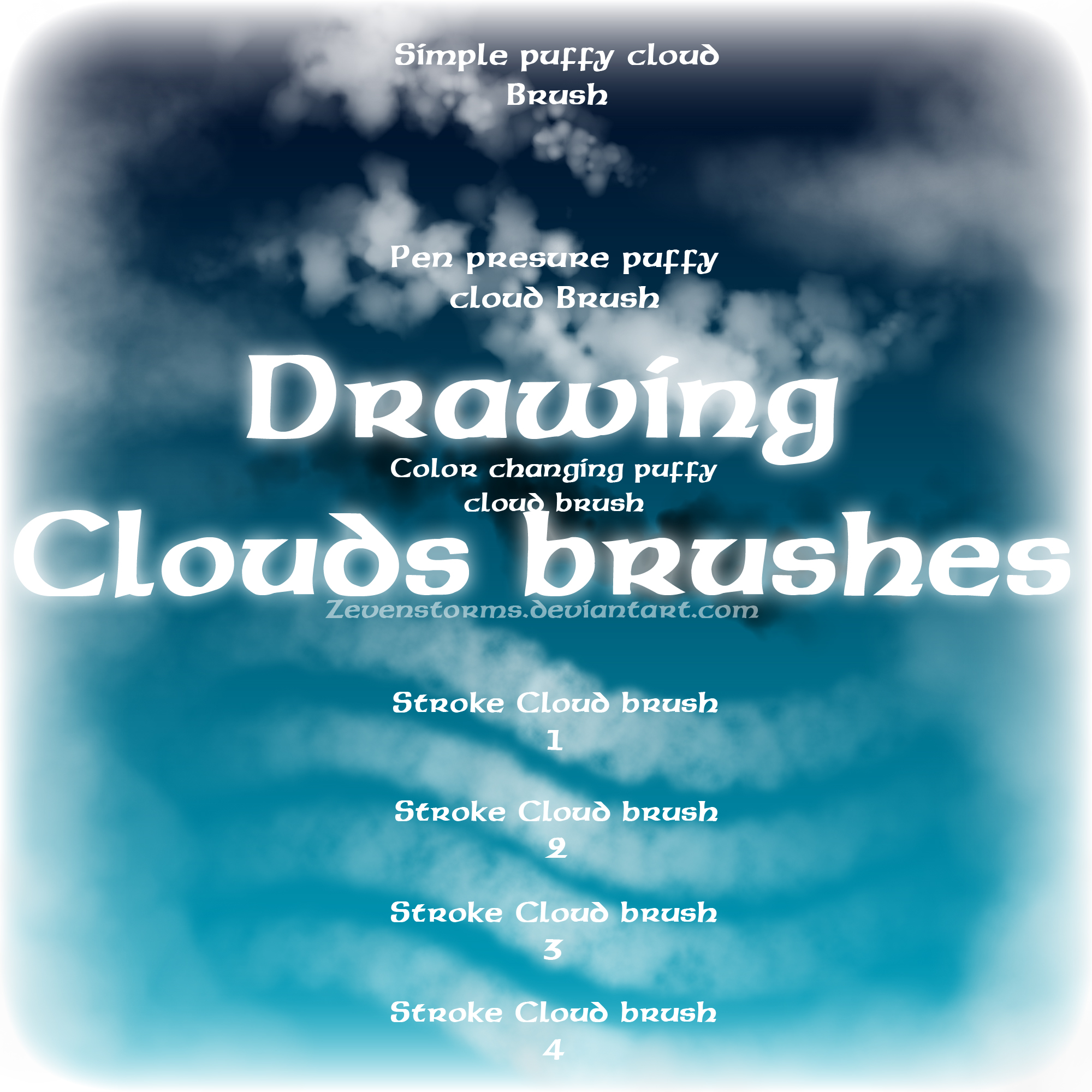 Drawing clouds Brush