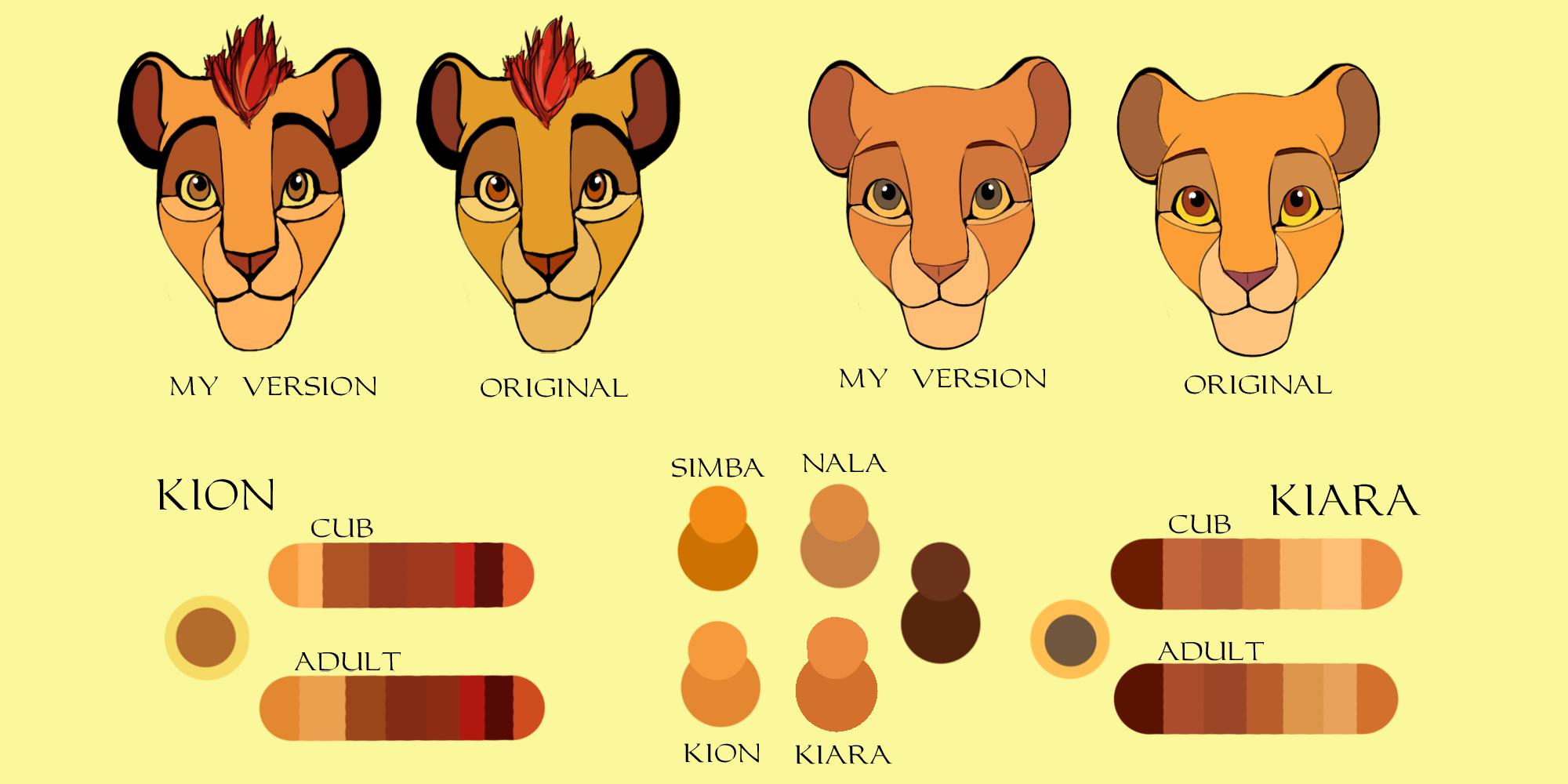 Lion King Colors