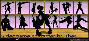 Videogame Characters brush set