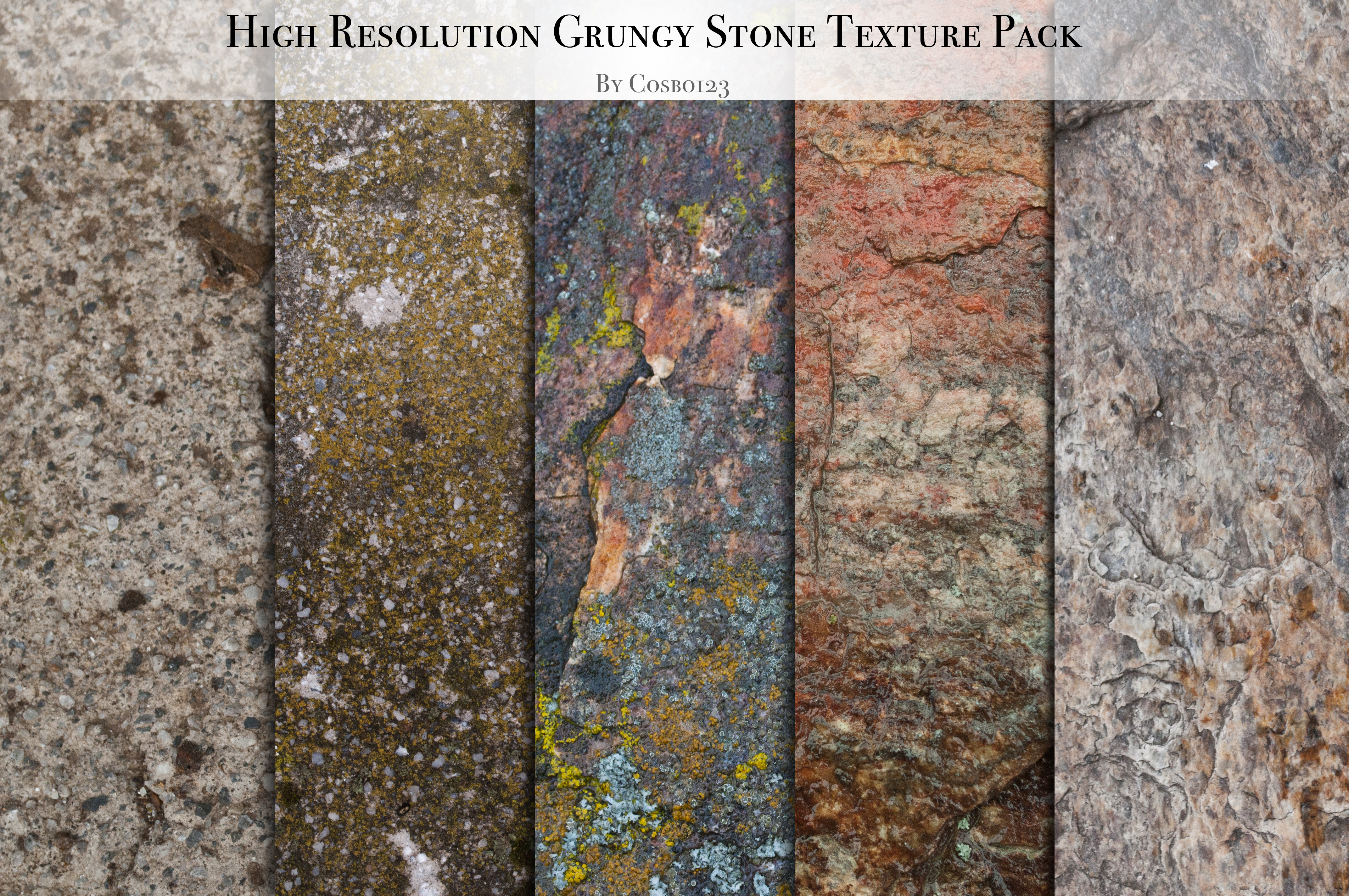 Hi-Res Grungy Stone Texture Pack by cosboom