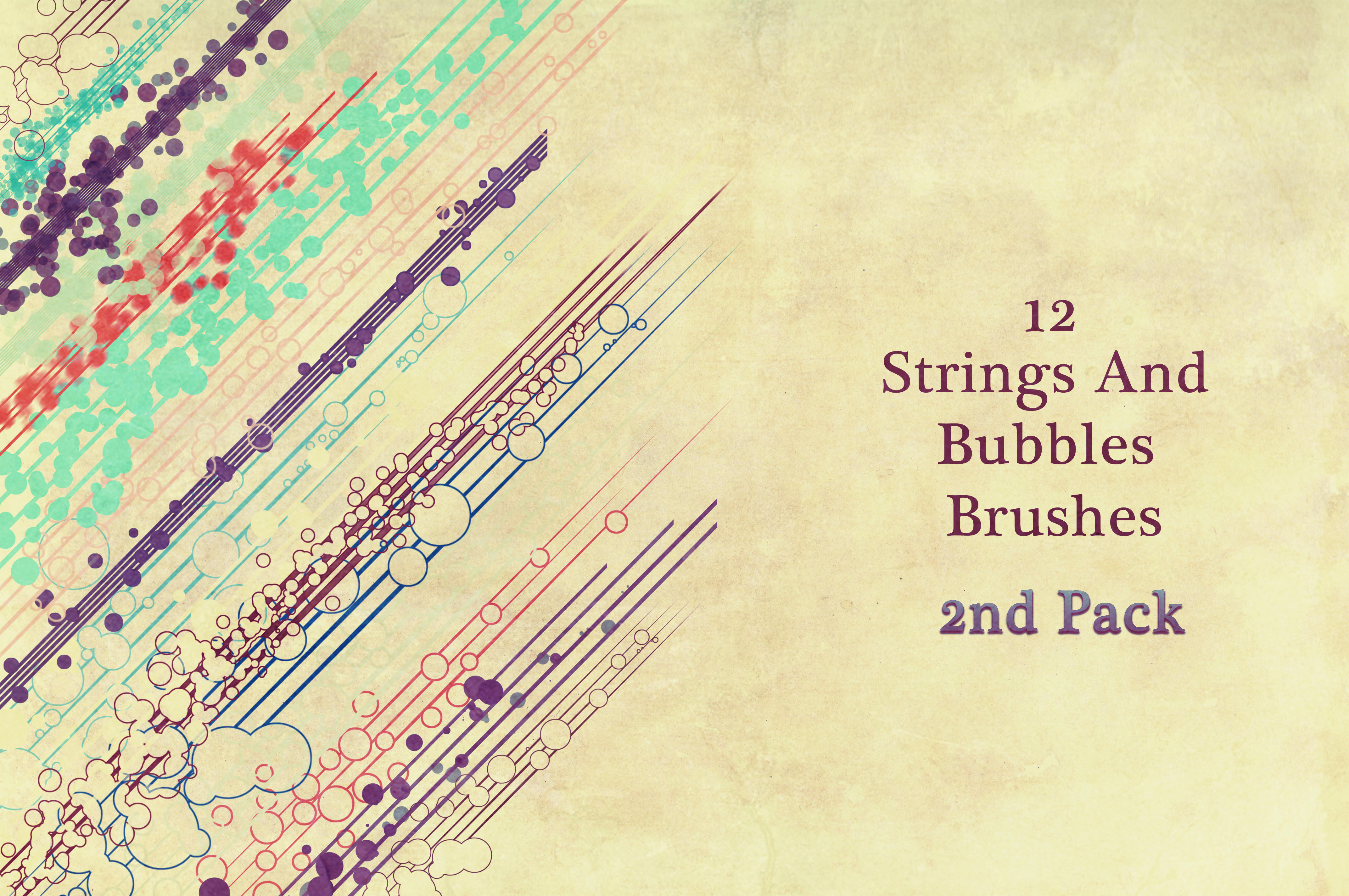 12 Strings And Bubbles Brushes 2 by cosboom