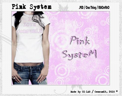 Pink System .PSD by conzumir