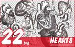 22 hearts PNG