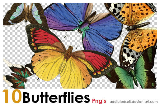 PNG butterflies 2 by addictedsp8