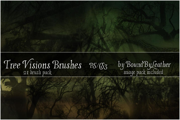 Tree Visions Photoshop Brushes by Bound-By-Leather