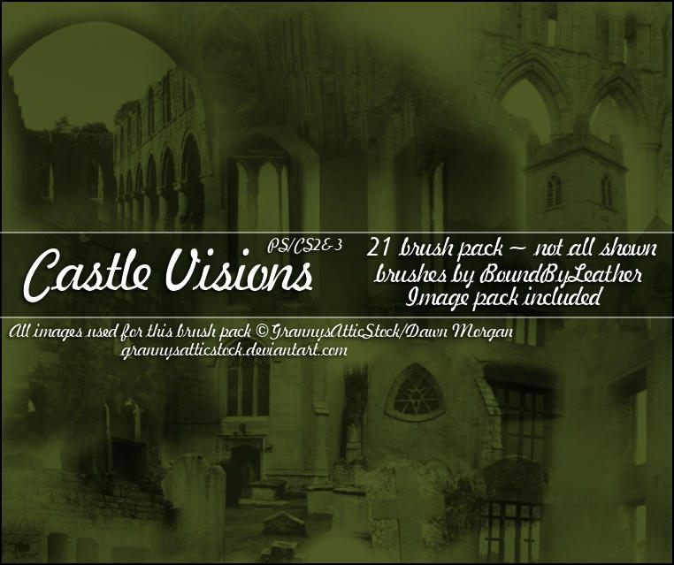 Castle Visions Brushes - PS by Bound-By-Leather