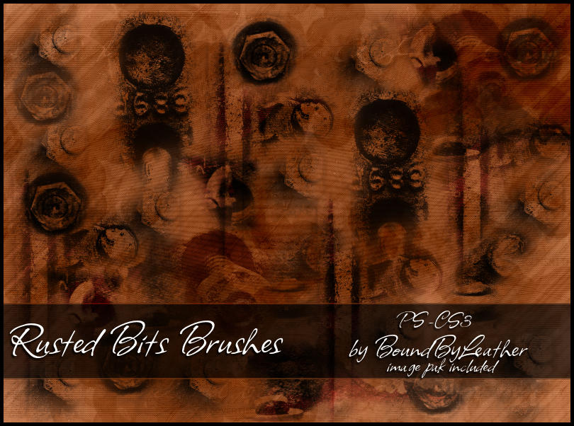 Rusted Bits Brushes by Bound-By-Leather