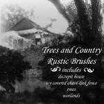 Trees + Country Rustic Brushes