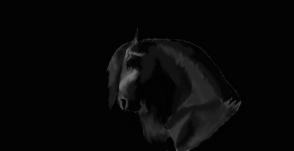 Friesian Horse Head Friesian Horse Head by Bybcool