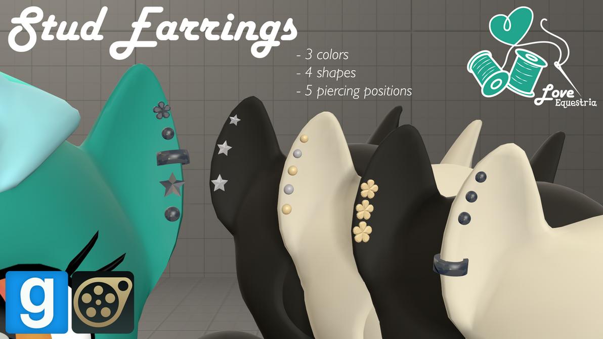 [DL] LE Stud Earrings by love-mist