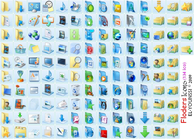 134 Flders Icons in dl File by save3c