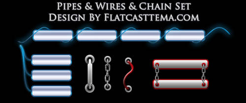 Pipes wire  Kablo Buttons Tema by flatcasttema