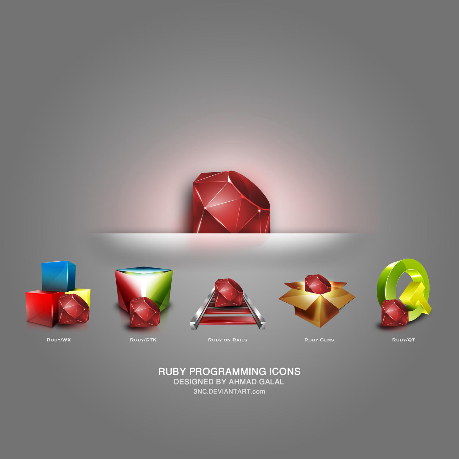 Ruby Programming Icons by 3nc