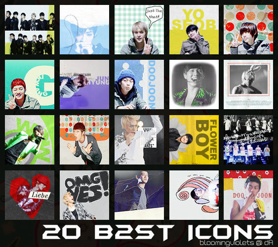B2ST Icon Pack by bloomingviolets