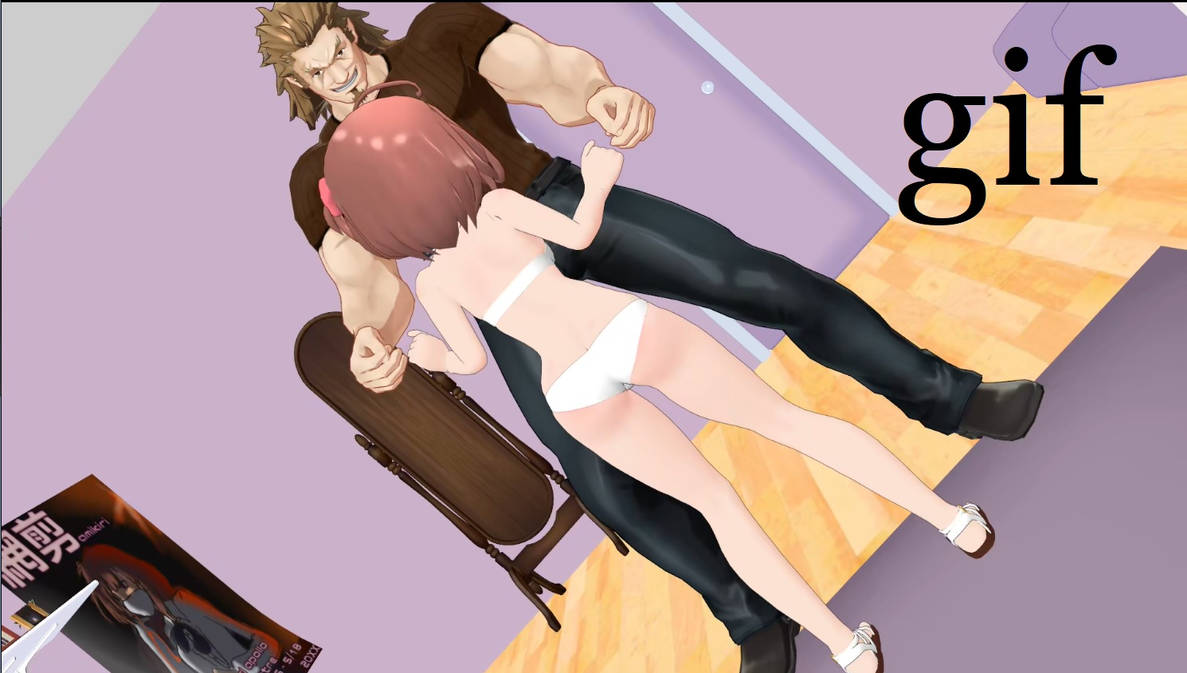 MMD Ballbusting GIF - Youre Not the Easter Bunny! by