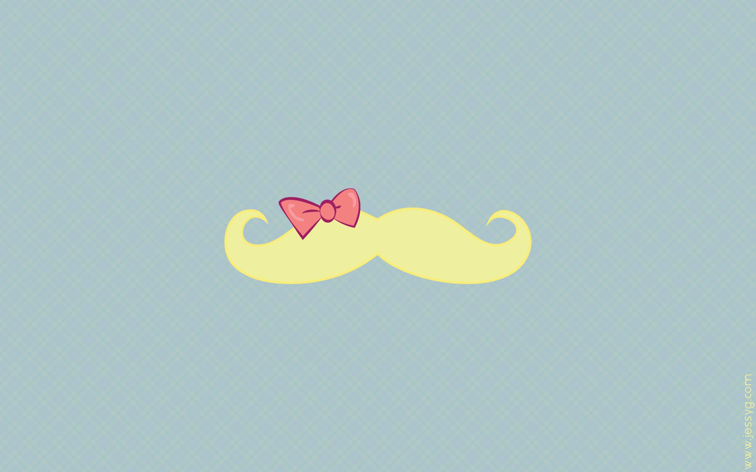 Mrs. Moustache Wallpaper by jessyG22 on