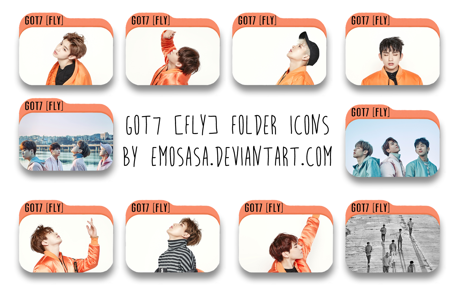 Got7 fly sticker k-pop flies 743*1076 transprent png free.