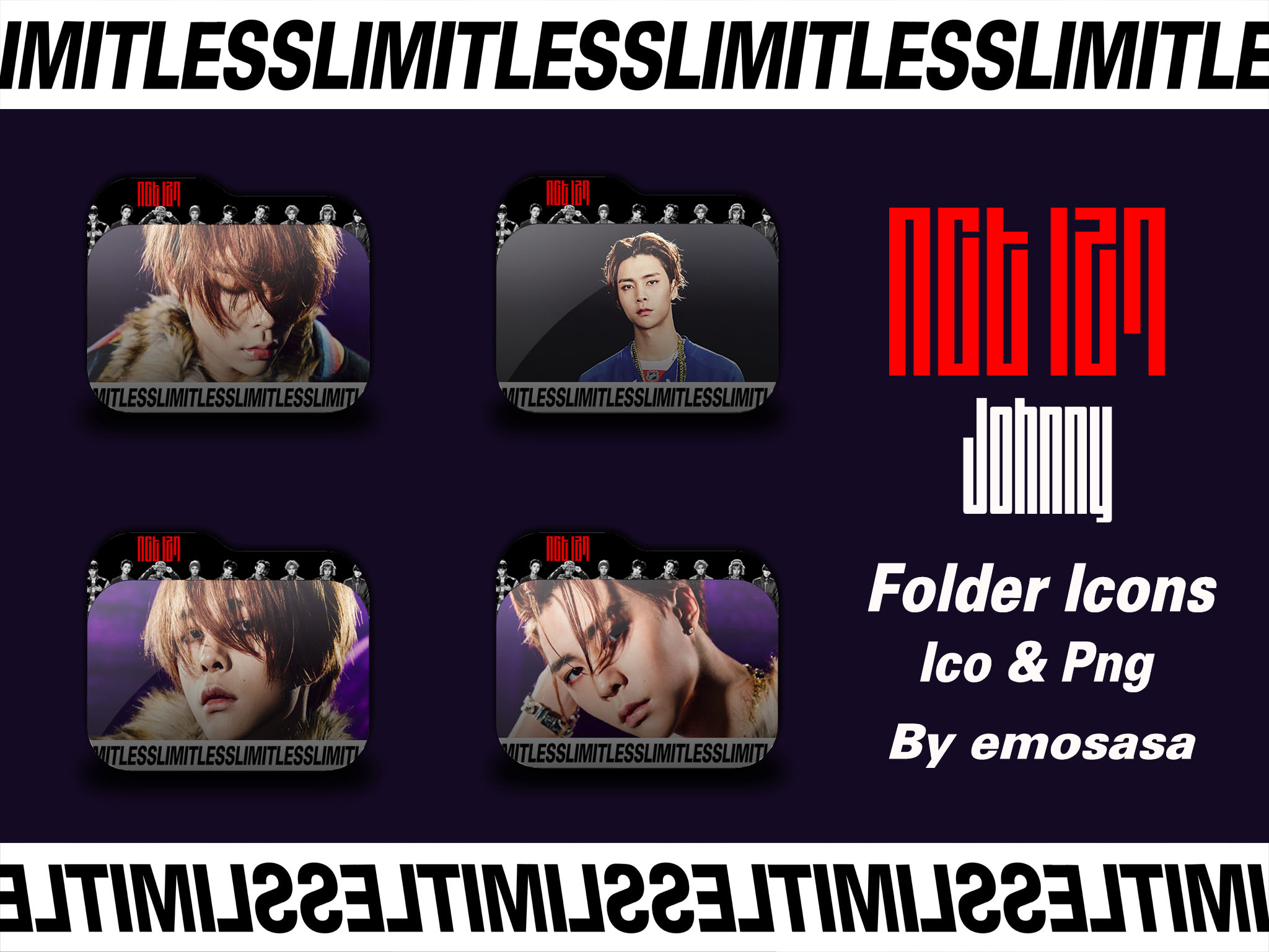 NCT 127 Johnny 'LIMITLESS' Folder Icons By Emosasa On