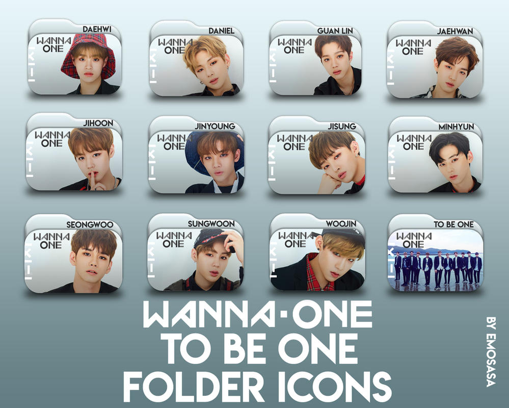 Wanna One To Be One Folder Icons By Emosasa On Deviantart