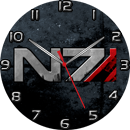Mass Effect Systems Alliance N7 Sidebar Clock by ChrisInVT